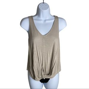 Forever 21 Tan Tank Top Size S